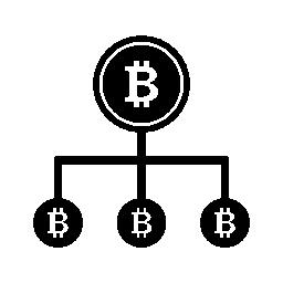 Bitcoin ライン グラフィック無料アイコン
