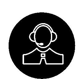 サークル無料アイコンでヘッドセット細いアウトライン シンボルを持つ人