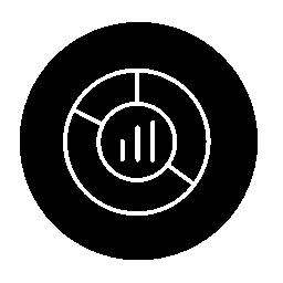 バー、センター部分薄いシンボル アウトライン円無料アイコンの内側の円円形グラフィック