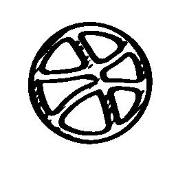 Dribbble 無料のスケッチのロゴのアイコン