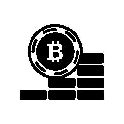 Bitcoin 昇順コイン無料アイコン