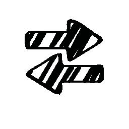 無料のスケッチの右と左の矢印のアイコン