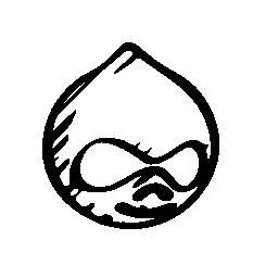 Drupal sketcked ロゴ概要無料アイコン