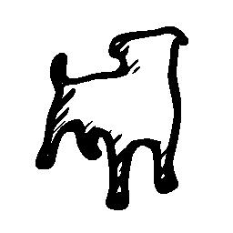 ペットのスケッチ社会的シンボル概要無料アイコン