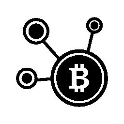 Bitcoin ネットワーク シンボル無料アイコン