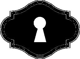 横型形状無料アイコンの鍵穴
