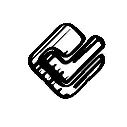 フォースクエアのスケッチのロゴの輪郭の無料アイコン