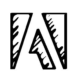 Adobe スケッチのロゴの輪郭の無料アイコン