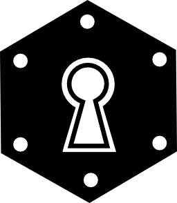 六角形の鍵穴バリアント無料アイコン