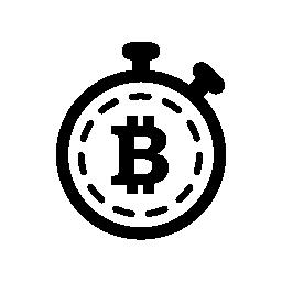 内部タイマーのバリアント無料アイコン Bitcoin 記号