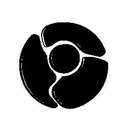 クロームのロゴ スケッチ シンボル バリアント無料アイコン