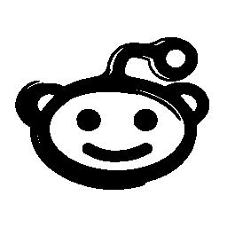 Reddit マスコット ロゴのスケッチ バリアント無料アイコン