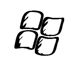 Windows ロゴのスケッチ無料アイコン