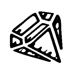 ダイヤモンドはスケッチ、バリアント無料アイコン