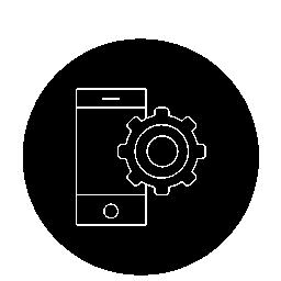 サークル無料アイコン内歯車概要と携帯電話