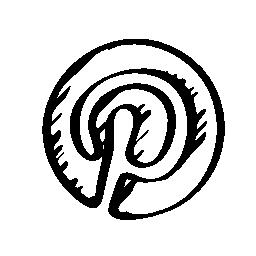 Pinterest スケッチのロゴの無料アイコン