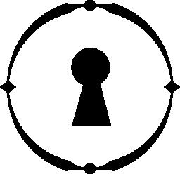 サークル無料アイコンの鍵穴
