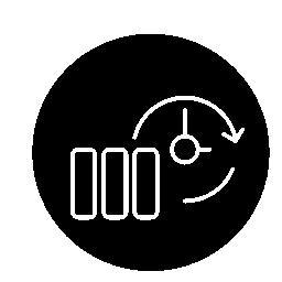 サークル無料アイコンでバックアップ細いアウトライン記号