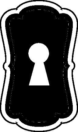 鍵穴垂直バリアント無料アイコン