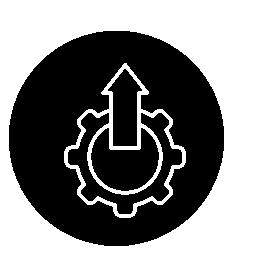 サークル無料アイコンに矢印を設定のシンボル