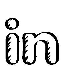 Linkedin スケッチ社会ロゴ無料アイコン