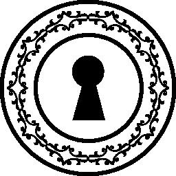 キーホール形状の装飾的な円環無料アイコン
