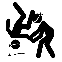 パラリン ピック柔道無料アイコン