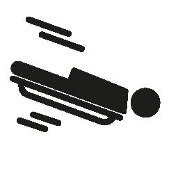 オリンピックのスケルトン無料アイコン