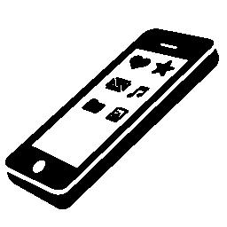 スクリーンの無料アイコンのアプリ アイコンを持ち、携帯電話