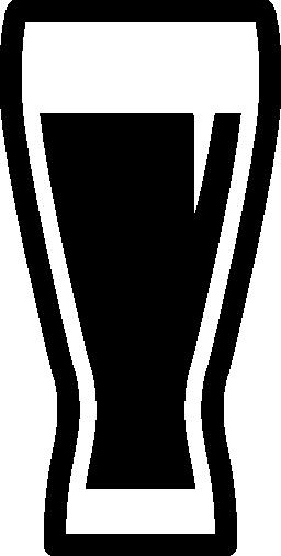 無料のアイコンの中の暗いソーダと背の高いドリンク ガラス
