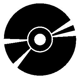 ディスクの黒い円形の無料のアイコン