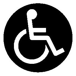 Discapacity ホイール椅子円形記号無料アイコン