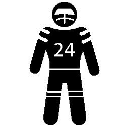アメリカン ・ フットボール プレーヤー無料アイコン
