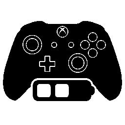 中バッテリー ステータス無料アイコンと Xbox のゲーム コントロール