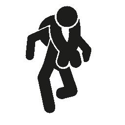 アドベンチャー スポーツ シルエット無料アイコン