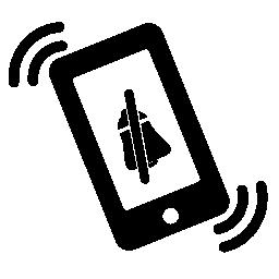 振動モードの無料アイコンを携帯電話します。