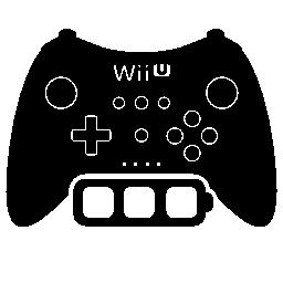 Wii と u のフル ・ バッテリ ゲーム制御シンボル無料アイコン
