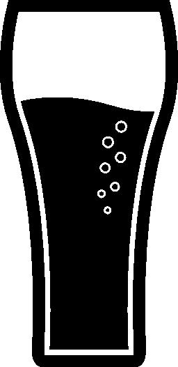 ソーダ無料アイコンと大きな背の高いグラスを飲む