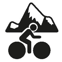 マウンテン サイクリング無料アイコン