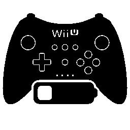 低バッテリ無料アイコンと Wii ゲーム コントロール