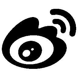 開いた目の形信号接続線無料アイコン