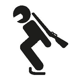 オリンピック バイアスロン スポーツ シルエット無料アイコン