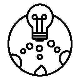 無料のアイコンを小さな円と円の電球