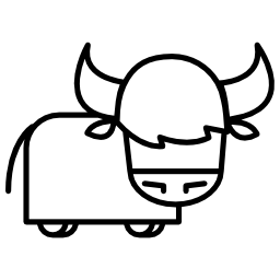 雄牛は漫画、バリアント無料アイコン