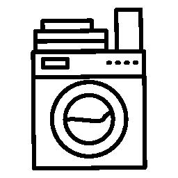 服とトップの無料アイコンを石鹸でランドリー マシンの変種