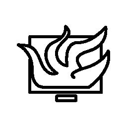 触手とコンピューター モニター無料のアイコン