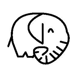 象哺乳類側表示無料アイコン