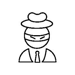 かかし頭身に着けているビジネス装い無料アイコン