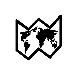 世界地図の無料アイコン
