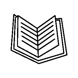 本を開いたページ無料アイコン